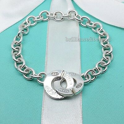 c36cb060d Tiffany & Co. 1837 Circle Clasp Toggle Bracelet Round 925 Sterling Silver  Pouch