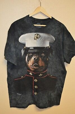 8b43cf12 Mens THE MOUNTAIN Manimals MARINES Corps Dog Tie Dye T-Shirt Size LARGE