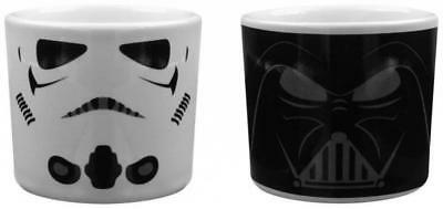 Star Wars Darth Vader And Stormtrooper Egg Cup 100% Official Gift Set Retro Film