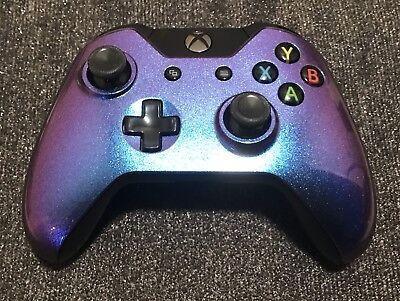 OEM Genuine Microsoft Xbox One Wireless Controller Chameleon (purple and blue)