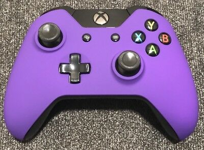 Purple Soft Touch OEM Genuine Microsoft Xbox One Wireless Controller