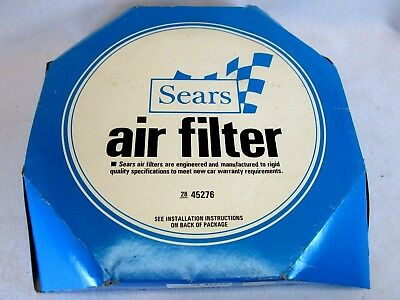 Vintage 1970's Sears Robuck & Co auto air filter 45276 (box only)