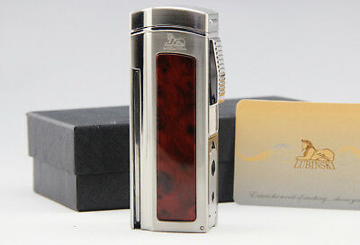 Cohiba Red Metal Cigar Lighter 4 Torch Jet Flame With Cutter 2 Punch