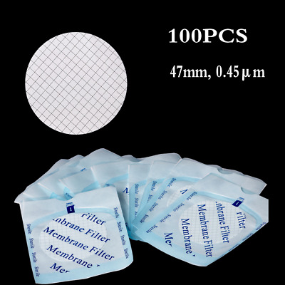 100PCS Sterilized MCE Gridded Membrane Filter, 47mm,0.45μm Individual Packed