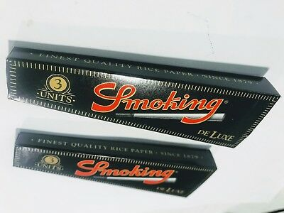 2 Packs of 3 Ea. Delux Smoking Cigarette Paper Cones Pre-Rolled King Size