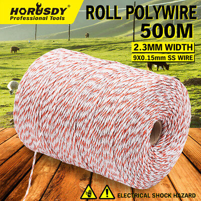 500 Meter Polywire Electric Fence Energiser Stainless Steel Wire Fencing Tool