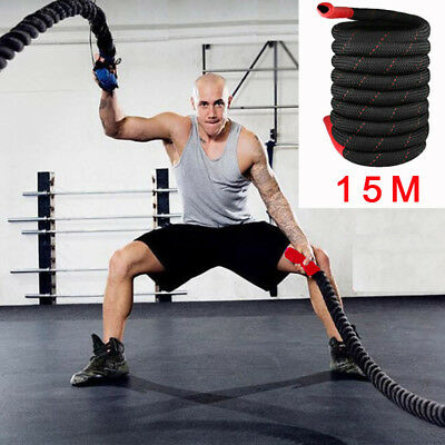 15M Durable Battle Rope MMA Training Body Exercise Improve Cardio Strength Core