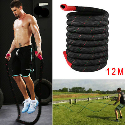12M Durable Battle Rope MMA Training Body Exercise Improve Cardio Strength Core