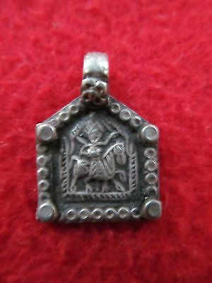 Old Tribal Antique South Indian God Goddess Silver Amulet Pendant Necklaces 03