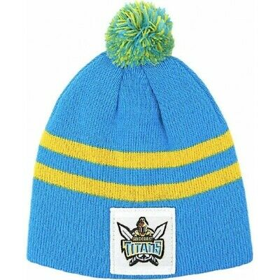 Gold Coast Titans Official NRL Knit Baby Infant Beanie
