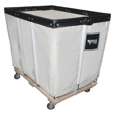ROYAL BASKET T Permanent Liner Basket Truck,6 Bu,Canvas, G06-CCW-PMA-3UNN, White