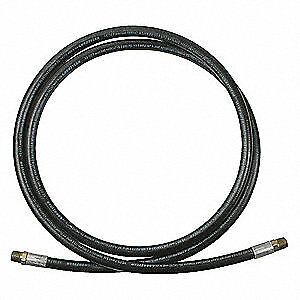 LEGACY Synthetic Rubber Grease Hose,1/2 in. MNPT,2000 psi,Rubber, LT1212012