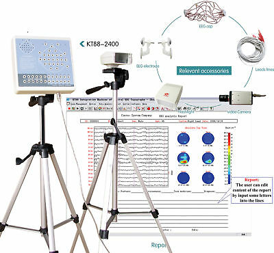 EEG machine KT88-2400 Digital 24-Channel EEG and Mapping System+2 Tripods,PC SW