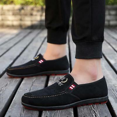 Men Shoes Breathable Casual Soft Moccasins Round Leisure Slip On Pure Color