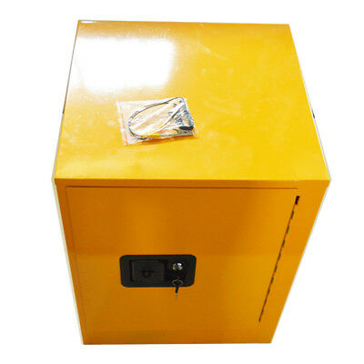 Flammable Safety Cabinet 4 Gal Yellow Security cabinet Shelving Storage Bins