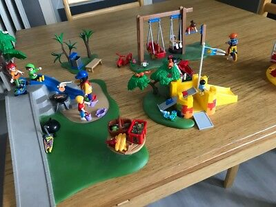 PACK PLAYMOBIL GRAND jardin d\'enfants 5024 et attraction 5554 - EUR ...