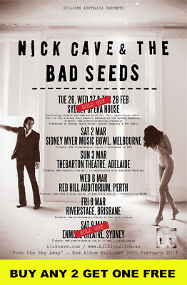NICK CAVE AND THE BAD SEEDS 2013 Australian  Laminated Tour Poster