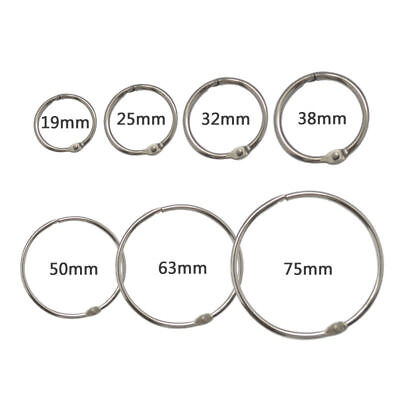 Loose Leaf Book Binder Metal Silver Rings For Scrap Booking Tool 10pcs Hinged