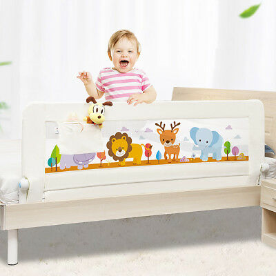 1.5M New Baby Bed Rail Safety Guardrail Pocket General Use Bed Fence Crib Rails