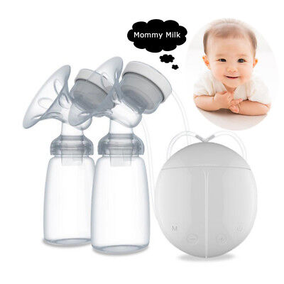 RealBubee Double Intelligent Microcomputer USB Electric Breast Pump+Milk Bottle