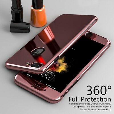 XHCOMPANY Hybrid 360° Mirror Shockproof Case + Tempered Glass Cover For iPhone