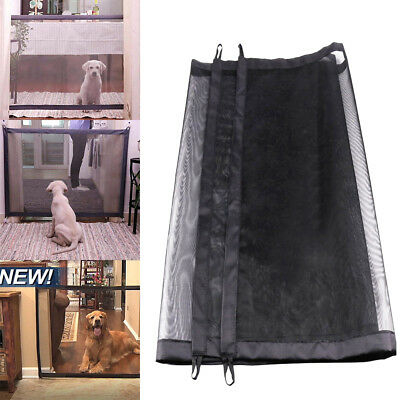 Mesh Magic Gate Door Portable Folding Safe Guard Fence Enclosure for Pet Dog Cat