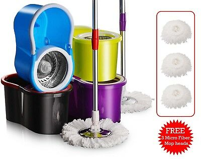 Easy Spin Magic Mop 360 Degrees Rotating Mop Classic Color Deluxe Mop Bucket Set
