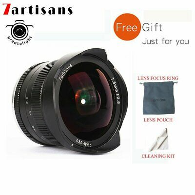 7artisans 7.5mm F2.8 Manual Fisheye Lens For Panasonic Olympus Micro 4/3 Cameras