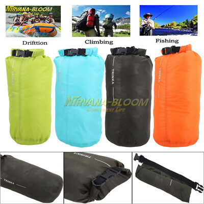 8L Outdoor Waterproof Canoe Backpack Dry Bag Sack Pouch Swimming Camping Hiking