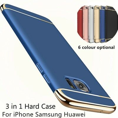 XHCOMPANY Plating Metal Protector Phone Case Ultra Thin For IPhone X 8 7 6S Plus