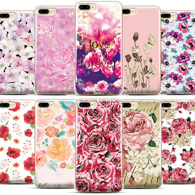 Hot Rose Floral Flower Pattern Phone Case Cover For iPhone Samsung LG Motorola