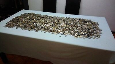 1 Kg Quilogram Lot Mixed World Coins 250-300 coins Circulated/Unc FREE SHIPPING