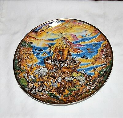 """Franklin Mint Bill Bell """"Two by Two"""" Limited edition Noahs Ark plate"""