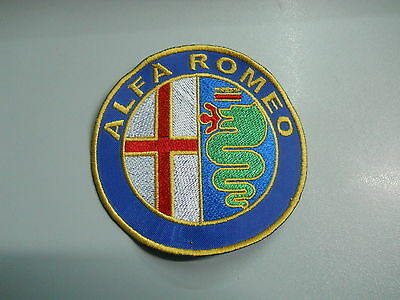 Patch Alfa Romeo Embroidery Embroidered Thermoadhesive Diameter 8 CM