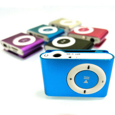 Mini Clip USB Digital MP3 Music Audio Players Support TF Card Walkman + Earphone