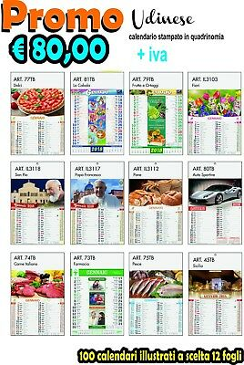 100 Illustrated Calendars 12 Sheets with Print vs Advertising Colours