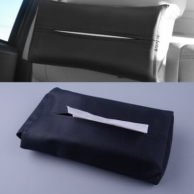 PU Leather Tissue Box Cover Pumping Paper Hotel Car Home Napkin Holder Case