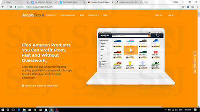 Jungle Scout Chrome Extension Amazon Product Research Tool FBA AMZ JS