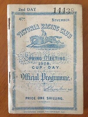 RARE 1924 Melbourne Cup Race Book won by Backwood