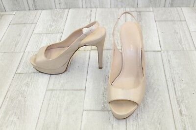 561a98c6387a PELLE MODA OANA Leather Platform Slingback Pumps