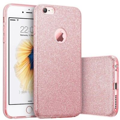 XHCOMPANY Cover Sparkle Shinning Protective Bumper Bling Glitter Case for iphone