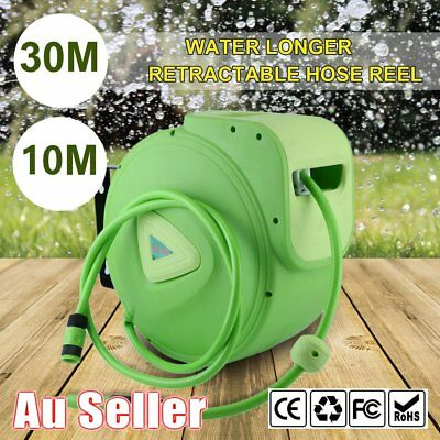 Water Hose Reel Wall Mounted Automatic Hose Reel With Spray Gun 10M 30M HY