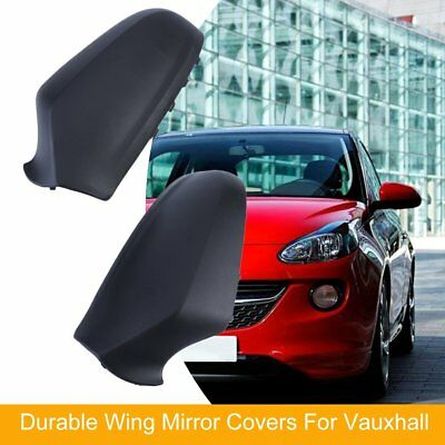 Vauxhall Astra H Mk5 2004-2009 Door Wing Mirror Cover Black O/S Drivers 1 Pair