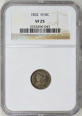 1832 Capped Bust Half Dime Ngc Vf-25
