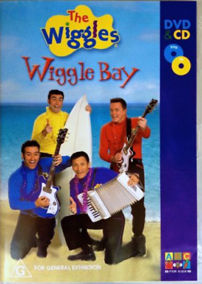 THE WIGGLES: wiggle bay [RARE CD/DVD Set] 2 Disc Combo (ABC For Kids 2004) -VGC-