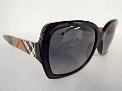 Authentic Burberry B 4160 3433/T3 58mm BLack Polarized Sunglasses $189