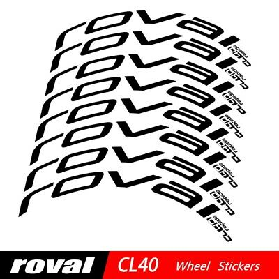 Carbon Wheel Stickers Set for Roval CL40 CL 40 Rim Brake Road Bike Bicycle Decal
