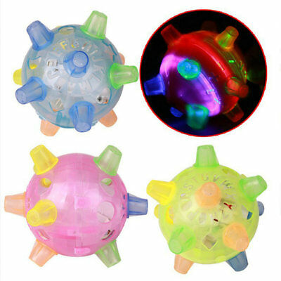 Jumping Joggle LED Light Up Bouncing Vibrating Sound Sensitive Ball Toy For Kid