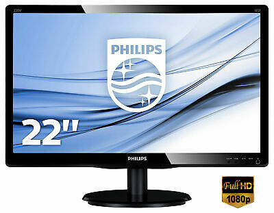 "MONITOR LED 22"" POLLICI PHILIPS 223V5LSB2/10 VGA 21,5"" FULL HD 1920x1080"