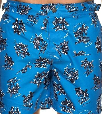 5bb2302832 New Mens/Boys Superdry International Swim Shorts Trunks Blue Palm UK S/30  RRP